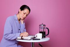 working coffee break - stock photo