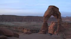 Waiting For Sunrise- Delicate Arch, Moab Utah Stock Footage