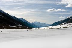 alpine scene - stock photo