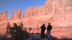 Park Avenue at Arches National Park, Moab Utah Stock Footage