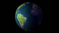 Day and night the earth spinning Stock Footage
