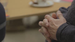 Old male hands Stock Footage