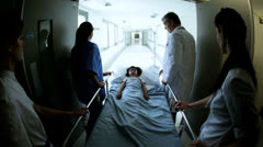Child Patient Taken Hospital Treatment - stock footage