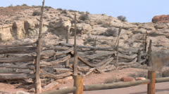 Wolfe Ranch and Corral - Arches National Park, Utah Stock Footage