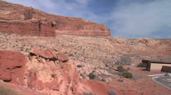 Arches National Park Visitor Center, Moab Utah Stock Footage