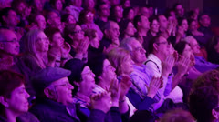 Audience applauds-Medium shot Stock Footage