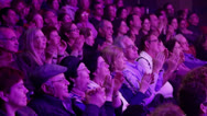 Stock Video Footage of Audience applauds-Medium shot