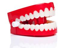 chattering teeth - stock photo