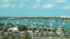 aerial shot of miami - stock footage