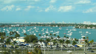 Stock Video Footage of aerial shot of miami