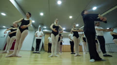 Ballet class - low Angle - stock footage