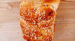 Bun of light wheat bread Stock Footage