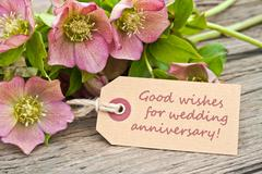 wedding anniversary - stock photo