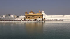 Sikh Golden temple in Amritsar, Punjab,India Stock Footage