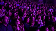 Audience applauds-long shot Stock Footage