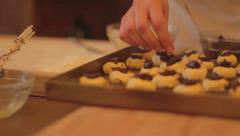 Cooking ancient cookies Stock Footage