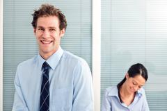 businessman and colleague. - stock photo