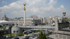 Kiev, Independence square (Maydan) - stock footage