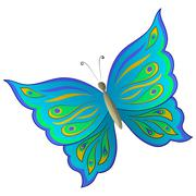 Symbolical colorful butterfly Stock Illustration