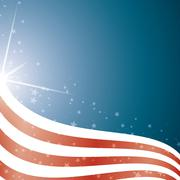 American Flag, Vector background stripes and stars - stock illustration