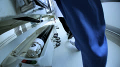 Close Up Patient Ward Transfer Hospital Bed Slow Motion - stock footage