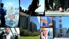 Montage Multi Ethnic City Business People Stock Footage