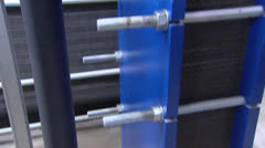 Heating and cooling unit - tilt up / tilt down Stock Footage