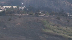 Burn Area In Mountains Stock Footage