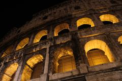 Colosseum at Night Stock Photos