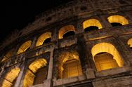 Stock Photo of Colosseum at Night