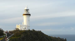 Byron bay lighthouse Stock Footage