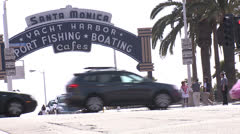 Timelapse Santa Monica Pier - stock footage