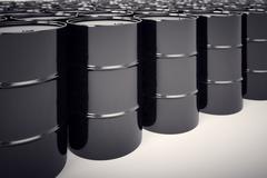 Oil barrels. - stock illustration