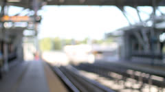 Train stop 1 Stock Footage