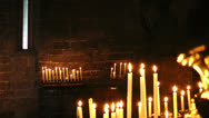 Stock Video Footage of Burning candles, Church of Saint Peter, Portovenere