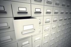 File cabinets. - stock illustration