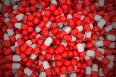 Pile of capsules. - stock illustration