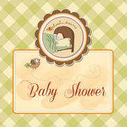 Stock Illustration of new baby boy arrived