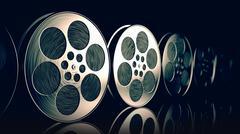 Film reels. - stock illustration