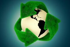 Recycle Earth. Stock Illustration