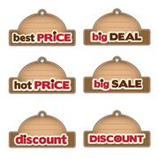 Stock Illustration of set of promotional labels