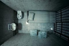 Prison cell. - stock illustration