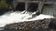 River Dam Slow Motion Stock Footage