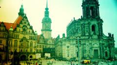 Dresden Hofkirche Stock Footage