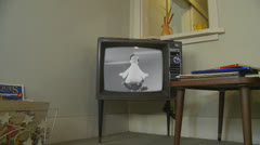 1960's Christmas Hoover commercial on old tv Stock Footage