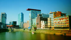 The Hafen district itself contains some spectacular post-modern architecture Stock Footage
