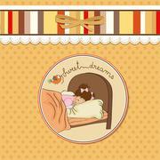 New baby girl arrived Stock Illustration