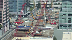 Time lapse shot of busy construction workers  Stock Footage