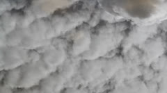 Clouds reflection Stock Footage