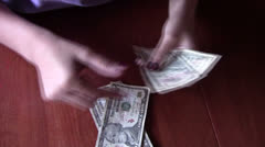 Counting Money Stock Footage